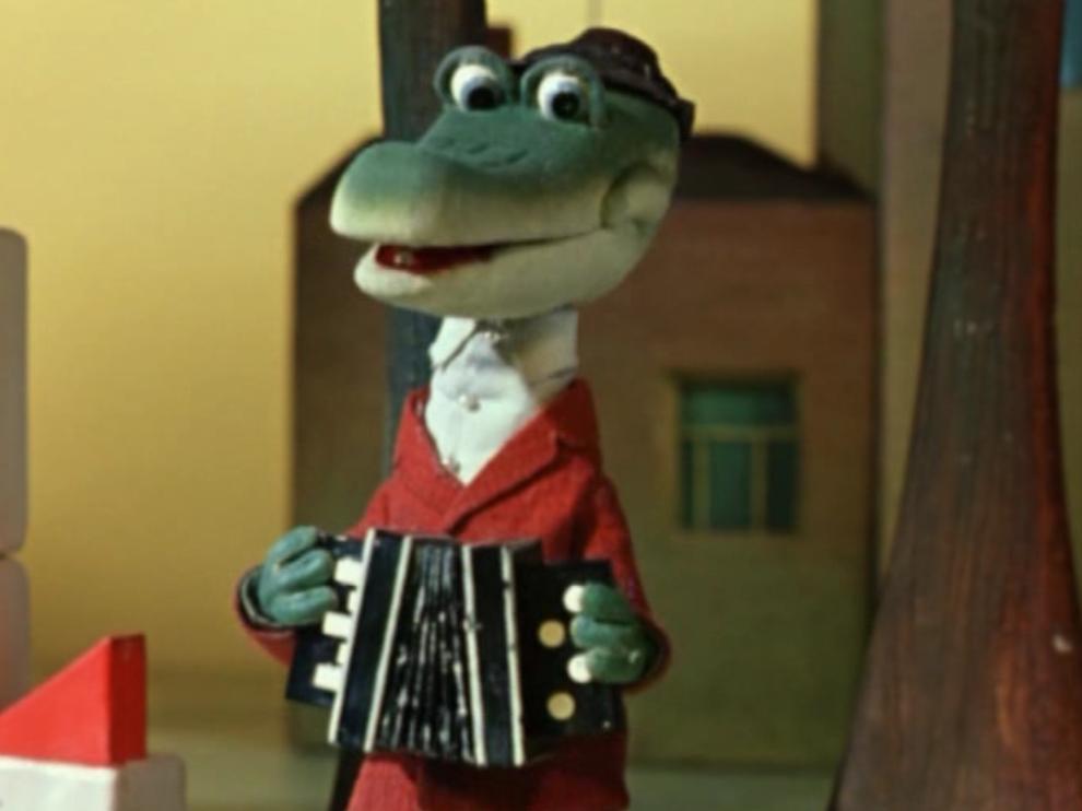 Музыкальная открытка Песенка крокодила Гены